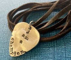 Pewter Guitar Pick Necklace  Pewter Necklace  Mens by PickityPick