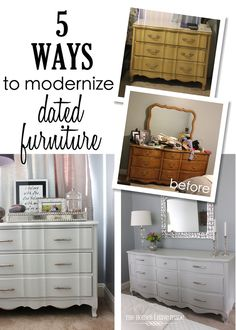 5 Ways to Modernize Dated Furniture