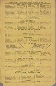 Walton's Old Homestead Oyster & Chop House, 1916 vs. Old Homestead Steakhouse, 2014 | What NYC Restaurant Menus Looked Like 100 Years Ago Vs. Today