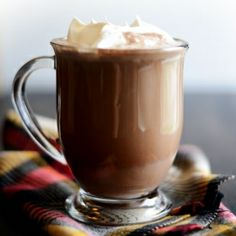 Boozy Skinny Hot Chocolate by fitfoodiefinds: Not even 100 calories!  #Hot_Chocolate #Skinny