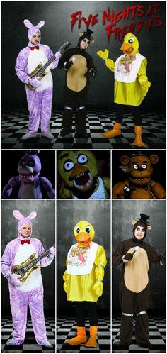 DIY Five Nights at Freddyu0027s Halloween costumes! Scary. & Diy 5 nights at freddyu0027s chica costume | Holiday catch all ...