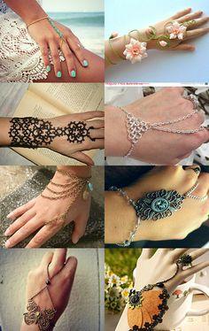 Slave Bracelet by Amelie Chan on Etsy--Pinned with TreasuryPin.com #SlaveBracelet #SlaveBracelets #Bracelets #BraceletRing #HandChain #HandJewelry #BraceletRings #HandChains #BodyJewelry #HandHarness #HandAccessory