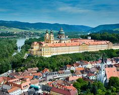 This is another view of the Melk Abbey in the Wachau Valley--the termination port for our cruise...Melk Abbey made famous by the Sound of Music....slj