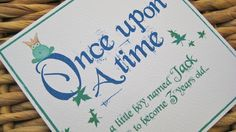 Fairytale party Invitations £1.75