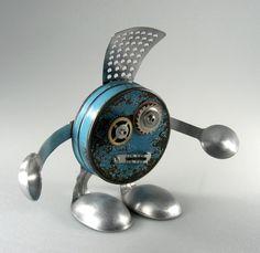 Les - Robot Sculpture by adoptabot.deviantart.com on @deviantART
