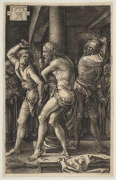 The Flagellation, from The Passion Artist: Albrecht Dürer (German, Nuremberg 1471–1528 Nuremberg) Date: 1512 Medium: Engraving Dimensions: Sheet: 4 3/4 × 3 1/16 in. (12 × 7.7 cm) Classification: Prints Credit Line: Gift of Mrs. George Khuner, The George Khuner Collection, 1968