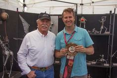 2014 overall Best of Show Winner, Adam Homan of Tucson, Arizona is pictured here with Sedona Mayor Rob Adams