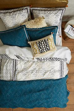 Enmore Embroidered Duvet #anthropologie  I think this is what I have been looking for!!