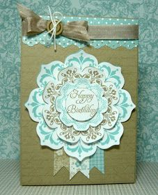 Perry Papercrafts: Medallion Birthday