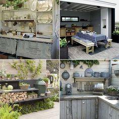Leuke houten tuin ideeen Outdoor Lounge, Outdoor Rooms, Outdoor Gardens, Outdoor Living, Outdoor Decor, Patio Grill, Backyard Patio, Decor Interior Design, Interior Decorating