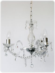 Marie Therese 3 Light Chandelier - Chrome, Pendants, Crystal Chandeliers, New Zealand's Leading Online Lighting Store