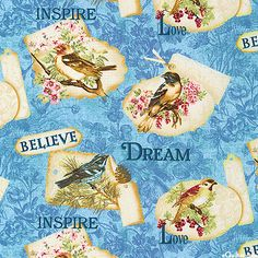 Birds of a Feather - Vintage Tweets - Quilt fabrics from www.eQuilter.com