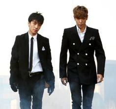 Seungri (승리) and T.O.P (탑) of Big Bang (빅뱅)