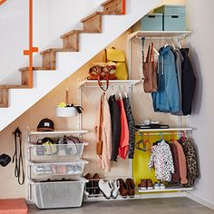 46 Marvelous Kids Storage Design Ideas With Wall System To Have - When you're a kid, it's hard to pick out the best design, home accessories or colors for your room. That's why it's best for parents to take control w. Kids Storage, Storage Design, Toy Storage, Coat And Shoe Storage, Angled Ceilings, Cubby Hole, Home Storage Solutions, Water Bed, Shelving Systems