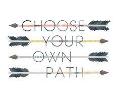 Choose Your Own Path art print // Small Talk Studio on etsy