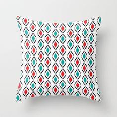 Retro Fun Pattern Throw Pillow by Donna Siegrist - $20.00