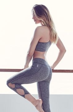 """- Supersoft workout leggings are crafted with smooth flatlock seaming that won't rub or irritate your skin, with infinity design cutouts along the legs for a contemporary look. - 23"""" inseam; 8"""" leg op"""