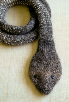 Striped stockinette snake - the purl bee