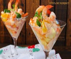 Cocina – Recetas y Consejos Seafood Recipes, Appetizer Recipes, Peruvian Recipes, Xmas Food, Le Diner, Salad Bar, Ceviche, Canapes, Appetisers