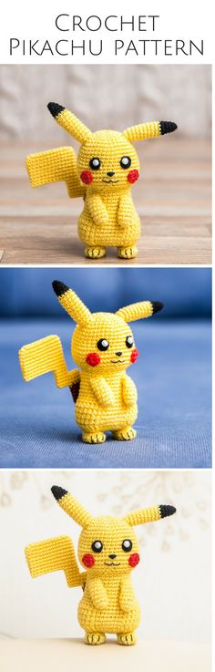 "Crochet Pattern of Pikachu from ""Pokemon"" (Amigurumi tutorial PDF file) - Decor Tips 2019 Pokemon Crochet Pattern, Pikachu Crochet, Easy Crochet Patterns, Amigurumi Patterns, Crochet Designs, Diy Crochet And Knitting, Cute Crochet, Crochet Dolls, Knitting Projects"
