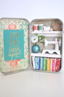 Hello! I added 12 new Tiny Tin Sewing Rooms on my etsy shop today! I don't like making the same thing over and over again, but making the...