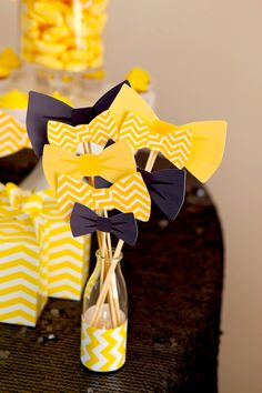 Bow Tie Themed 1st Birthday Party with tons of cute ideas! Via Kara's Party Ideas KarasPartyIdeas.com #babyshower #babyshowerideas #bowtieba...
