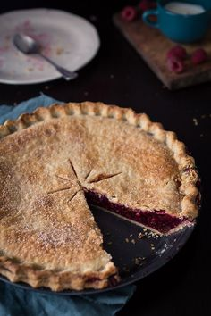 Raspberry Pie (how is there absolutely no juice/filling running out of the sides? I'm skeptical...)