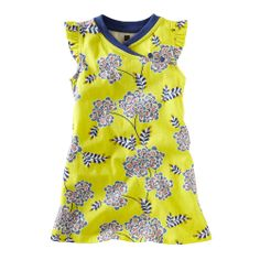 Yellow Chrysanthemum dress...Wrinkle-free...my favorite part