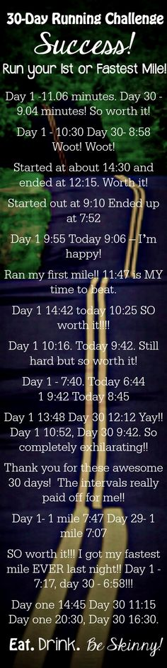 Whaaat!! Best success of a challenge yet!! 30 Day Run Challenge is AWESOME! You really can run your first or fastest mile when you follow this plan!