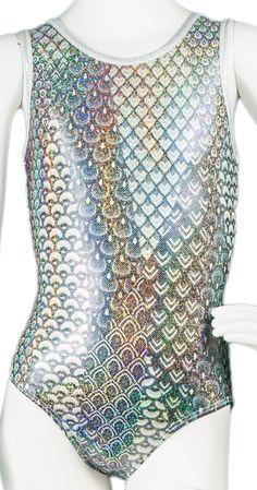 Destira: Silver Mermaid Leotard #leotard #leotards #gymnastics