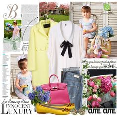 Spring Feelings with Le Bunny Blue, created by lalixie.polyvore.com