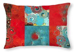 Bursting with color! Designer lumbar pillow 20x14 by Bonnie Bruno