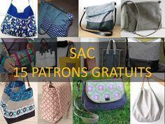 PATRON COUTURE GRATUIT : 15 MODÈLES DE SAC Bettinael.Passion.Couture.Made in france