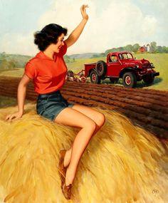 Farm Girl Pin-Up