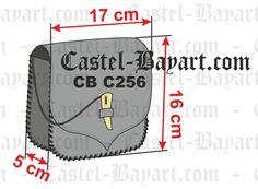Escarcela medieval en cuero trenzado con chaveta - Reproducción histórica de escarcelas medievales.