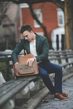 like the green jacket with a simple white t-shirt.