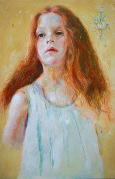 """Saatchi Art Artist Jara Marzulli Jara Marzulli; Painting, """"le campanule"""" #art"""