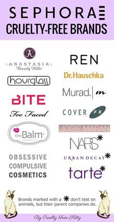 50+ Cruelty-Free Brands Sold At Sephora #crueltyfree #beauty #hacks