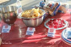 Transformers Party food More Más Fourth Birthday, 6th Birthday Parties, Birthday Fun, Birthday Ideas, Rescue Bots Birthday, Transformers Birthday Parties, Transformer Birthday, Food Themes, Ale