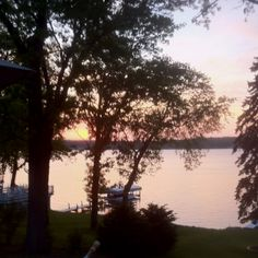 Sunset at the lake house.  Pewaukee, Wisconsin.