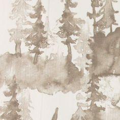 Vevet hvit m sand/brun skygge av skog