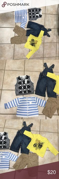 5 pc lot boys jeans pant top sweater t-shirt 3-9 m 5 pc New pants jeans OLD NAVY 3-6 m brown CH PLACE 3-6 m The children place west sweater 6-9 m T-Shirt Calvin Klein Jeans sz 6-9 m New boys Calvin Klein Jeans Shirts & Tops Tees - Long Sleeve