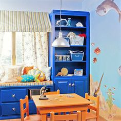 A Marine Biology Themed Room: Easy Ocean Murals (via Parents.com)