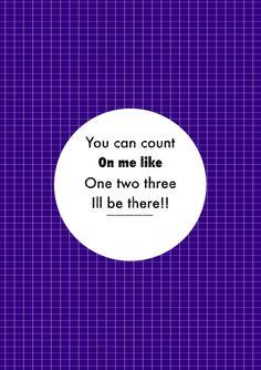 cuatro.. count on me de Bruno Mars