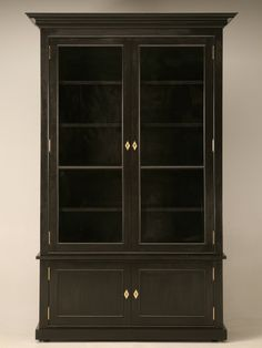 bookcases with glass doors | Handcrafted Bookcase with Glass Doors | Custom Made at the Old Plank ...