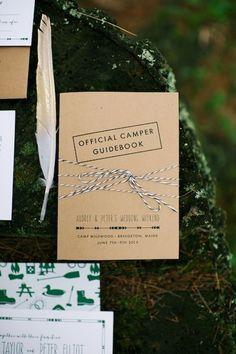 summer camp themed wedding program