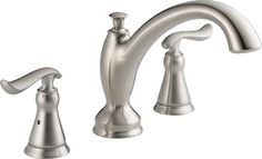 Delta T2794-SS Linden Roman Tub Faucet Trim in Stainless - traditional - bathroom faucets - PlumbingDepot.com