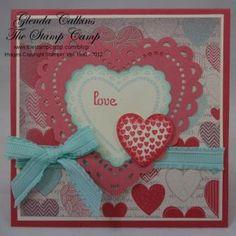 Hearts A Flutter by Glenda Calkins - Cards and Paper Crafts at Splitcoaststampers