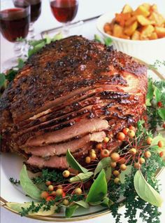 Ina Garten's Baked Virginia Ham-giving this a try this Easter...