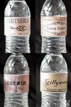 Free Printable Harry Potter Drink Labels - perfect for any Harry Potter for Halloween Party   www.overthebigmoon.com